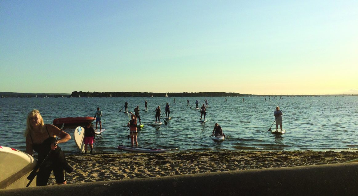 Poole Harbour Stand Up Paddle Sunset