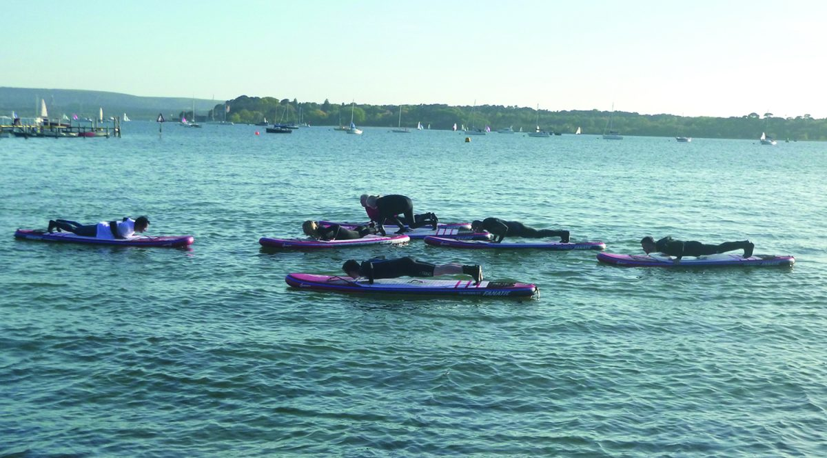 SUP Fitness Class Poole Harbour