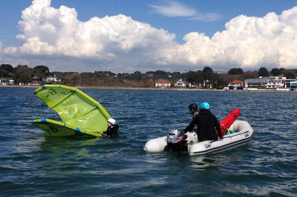 Poole Harbour Kitesurf Lesson Boat
